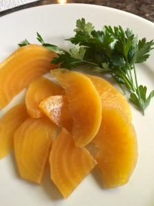 Pickled Roasted Golden Beets