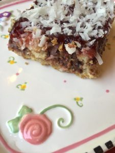 Coconut Chocolate Raspberry Squares