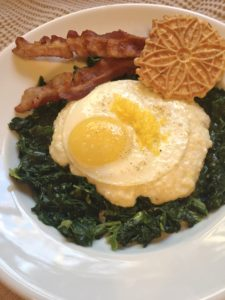 Grits, Greens, and Egg