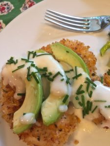 Crispy Chicken Cutlets with Avocado