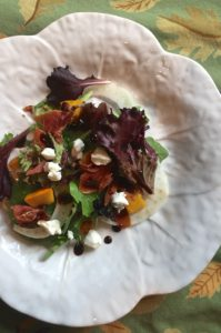 Pumpkin Salad with Goat Cheese with Maple Vinaigrette