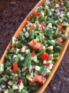 Spicy Green Bean and Cucumber Salad