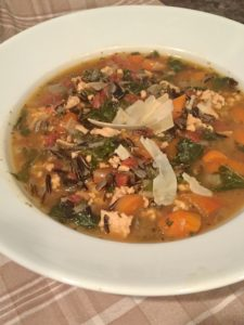 Turkey Soup with Rice and Kale