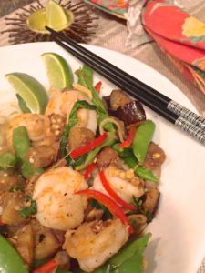 Thai Shrimp and Eggplant Stir-Fry