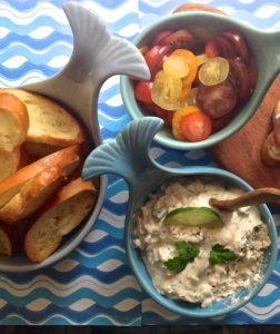 Redfish Spread with Toasted Crostini