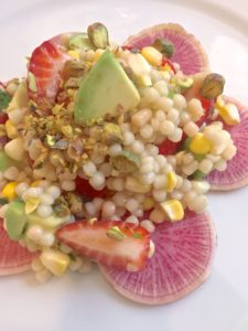 Couscous Salad with Strawberry, Avocado and Lime Vinaigrette