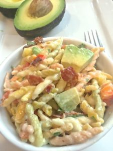 Trofie Pasta Salad with Bacon and Avocado