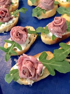 Roast Beef Rose Tea Sandwich
