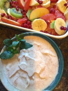 Winter Fruit Salad & Spiced Yogurt Dressing