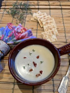 Potato and Leek Soup with Pancetta
