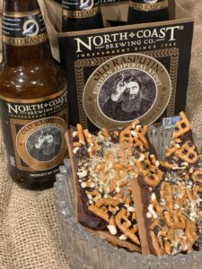 Chocolate Beer Pretzel Toffee
