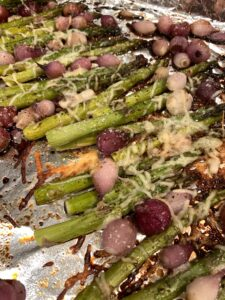 Balsamic Glazed Asparagus and Pearl Onions