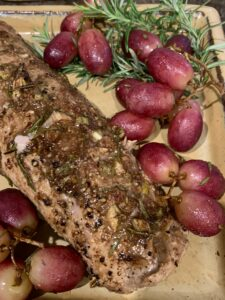 Pork Tenderloin with Roasted Red Grapes