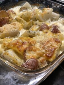 Potatoes and Turnip Au Gratin